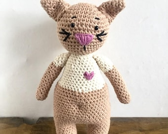 Crochet Cat, Amigurumi Toy, Child friendly Stuffed toy Cat or Room decor