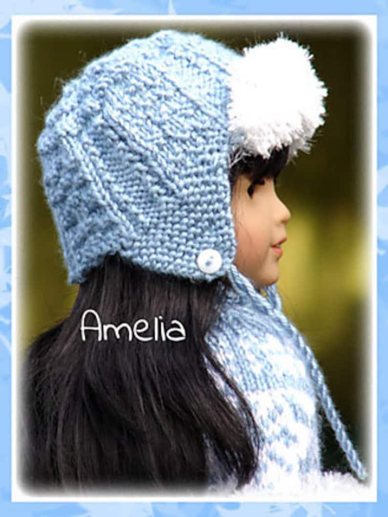 78a47c4cc6f Amelia PDF Doll Clothes an ear-flap trapper style hat