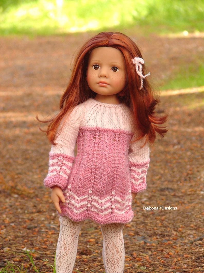 7557d7b5c87 Katie PDF knitting pattern for slim all vinyl Gotz dolls a