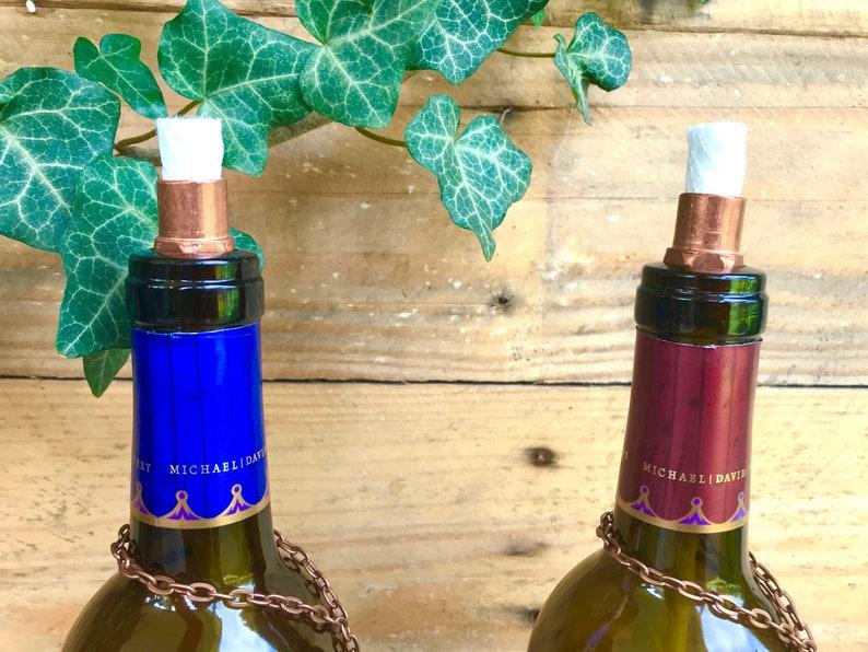 Freak Show Wine  Table Top Tiki Torch Set