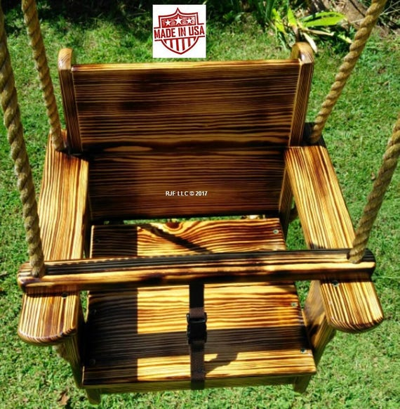 Magnificent Wood Tree Swings Toddler Seat Swing Charred Caraccident5 Cool Chair Designs And Ideas Caraccident5Info