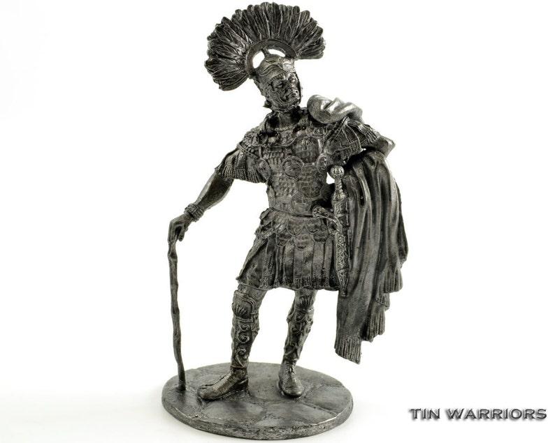 Roman centurion Legio XI Claudia 58 BC metal sculpture. image 0