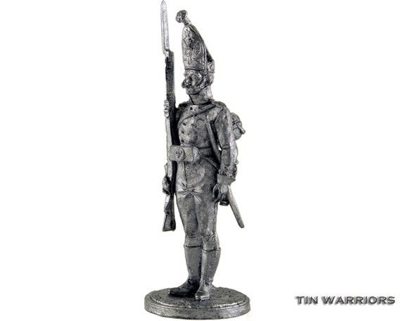 Officer of the Guards Grenadiers Tin Toy Soldiers Metal Sculpture Miniature Figure Collection 54mm Nap-33 scale 1//32