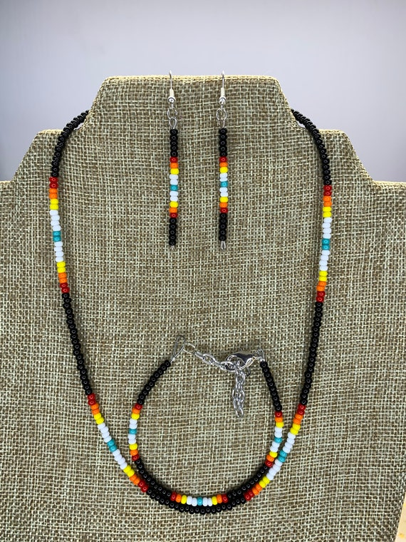 Black Sunset Necklace, Bracelet and Earring Set