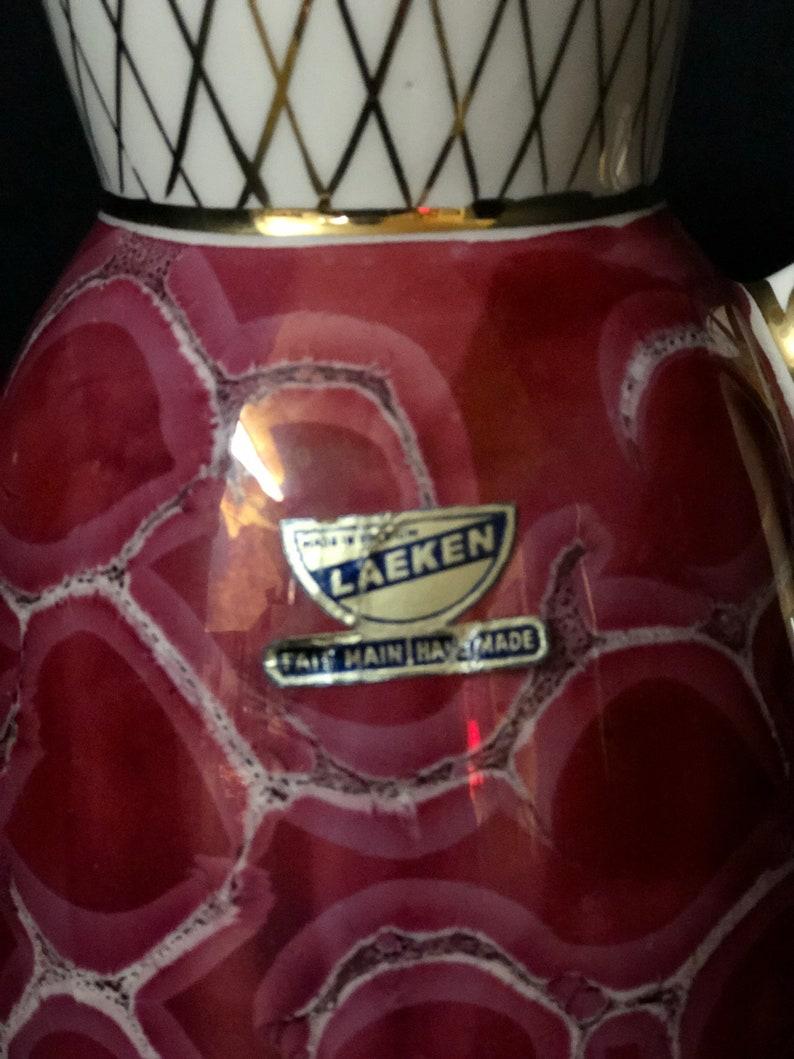 Laeken Belgium Hand Made Pearlescent Ceramic Pitcher
