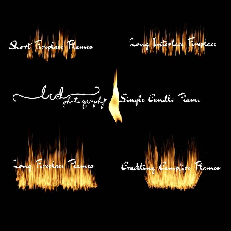 Digital BackdropCampfire and fireplace flamesOverlaysBundle SetNewbornBabyChildrenFamilyPhotographyPropcracklingPNGCandle