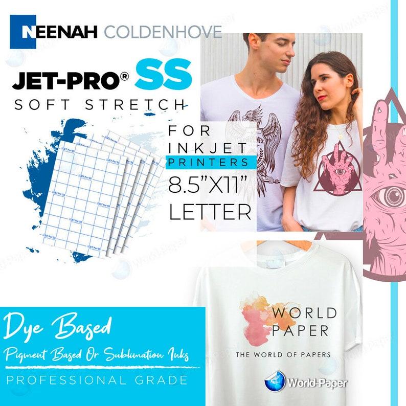 "Neenah JetPro SofStretch Inkjet Iron On Transfer Paper 11/"" x 17/"" 50 Sheets"