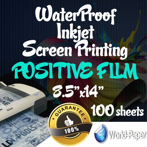 waterproof inkjet transparency film for screen printing etsy