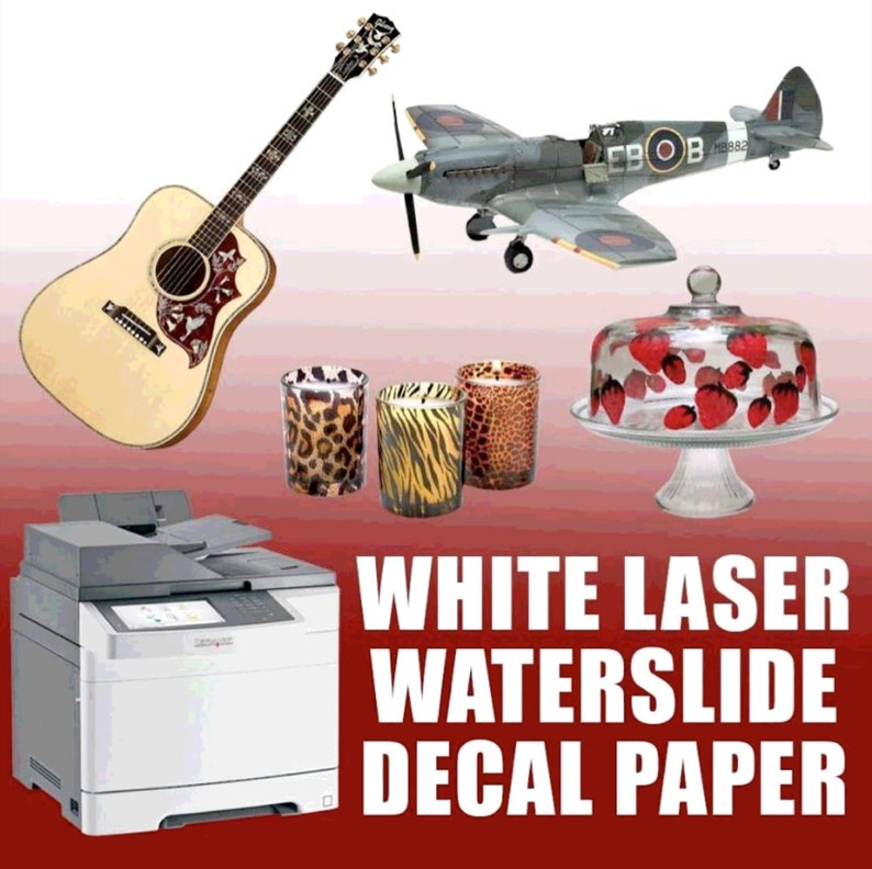 """LASER Waterslide CLEAR Decal Paper 8.5/"""" x 11/"""", 30 sheets :"""