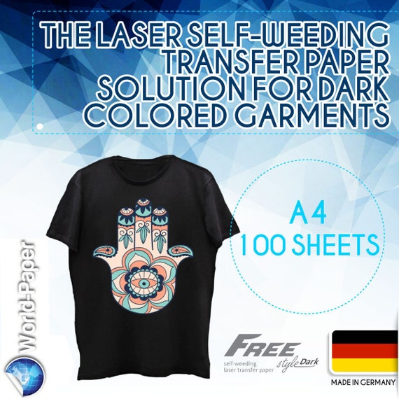Image Clip Laser Light Self-Weeding Heat Transfer Paper 8.5 x 11-10 Sheets
