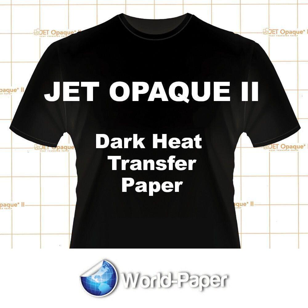 "Neenah Jet Opaque II 11 x 17/"" Inkjet Dark Transfer Paper Dark Colors 45 Sheets"