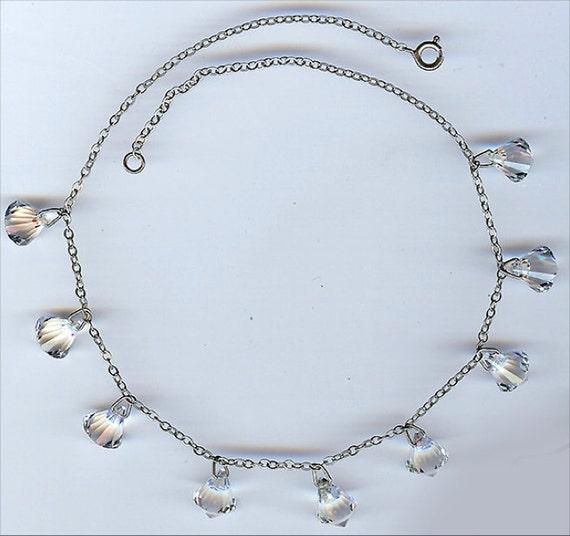 Vintage 1930's ART DECO CRYSTAL Dangles Necklace