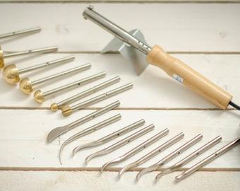 20 items. Professional flower making set of 16 tools + soldering iron + semi-hard pad + stand iron + soft pad+ video tutorials