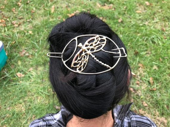 bun cage Bridal hair clip Hair Nautilus Shell Barrette Jewelry Metal Barrette Jewelry Hair Hair Stick hair pin Bun Cover