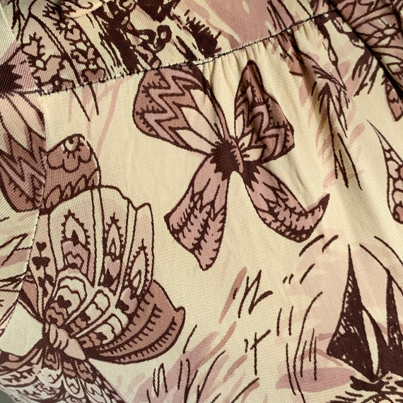 RARE Whimsical Neutral Palette Novelty Print Rayo… - image 3
