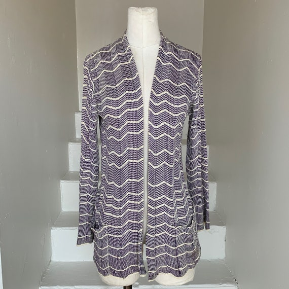 Aubergine and Cream 1930s Knit Longline Sweater Ra