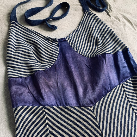 1930s Jersey Knit and Satin Swimsuit 36 Bust Vinta