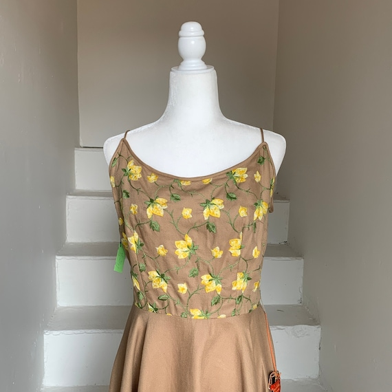 1950s Tags On Jerry Gilden Sundress Embroidery Ful