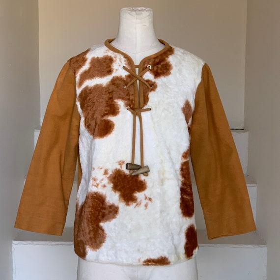 1950s Faux Cow Print Shirt Vintage Ranchwear Rocka