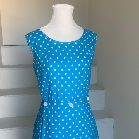 1960s Cycling Romper Dress Polka Dots Vintage Jum… - image 2