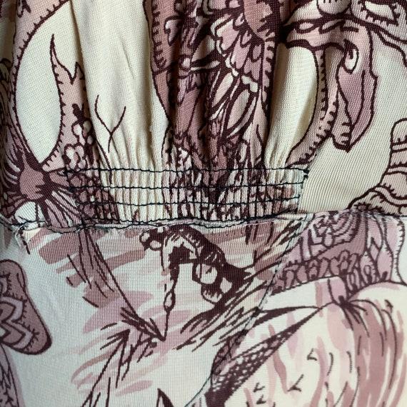 RARE Whimsical Neutral Palette Novelty Print Rayo… - image 7