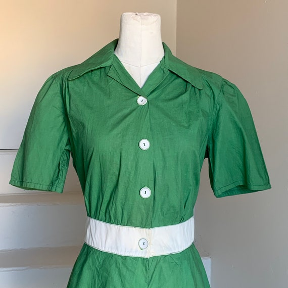 Late 1940s Green Gym Suit Romper Play Suit 38 Bust