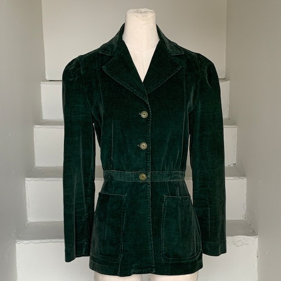 Reserved: 1940s Ladies Forest Green Corduroy Blaze