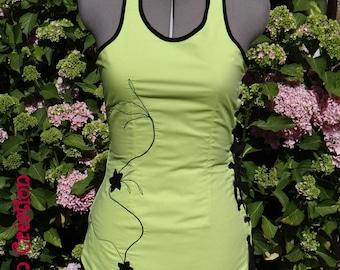 Dress, tunic Mowglie cut tribal embroidery, on