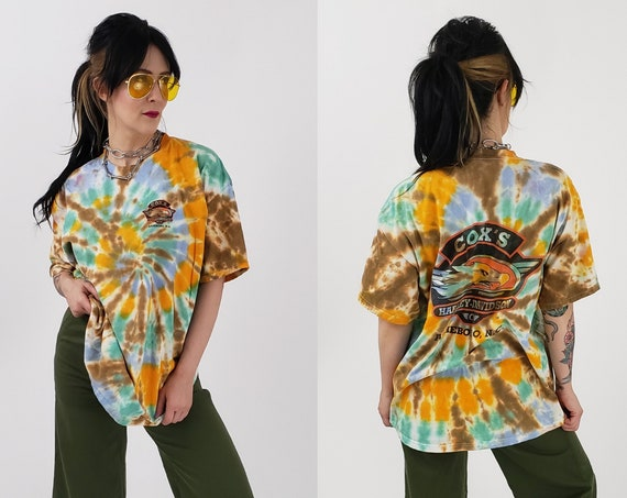 Tiedye 90s Vintage T-shirt XL - Hand Tie Dyed Colorful 1990s Upcycled Vtg Tshirt -  Asheboro, NC Remade Tie Dye Graphic Tee