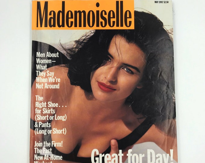 1992 Mademoiselle Fashion Magazine May Issue - Vintage New York Reading Young Womens Rare Fashion Magazine - Beauty + Fashion Q&A  Workouts