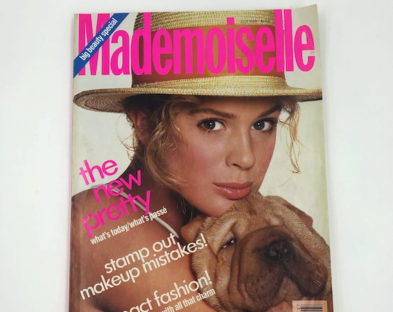 1988 Mademoiselle Fashion Magazine July Summer Issue - Vintage New York Fashion Young Womens Rare Style Magazine - Sex Love Q&A Horoscope