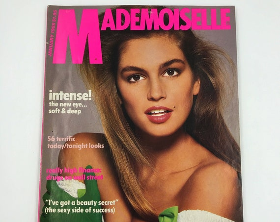 1988 Mademoiselle Fashion Magazine January Issue - Vintage New York Young Womens Rare Fashion Magazine - Sex Guide Horoscope Beauty Q&A