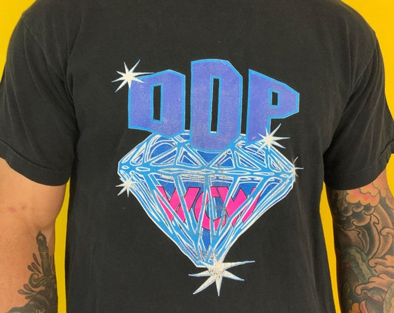 90's WCW Diamond Dallas Page Vintage Graphic T-shirt Large - RARE Nineties Pro Wrestling Front + Back Print Iconic Wrestler DDP Self Hi-Five