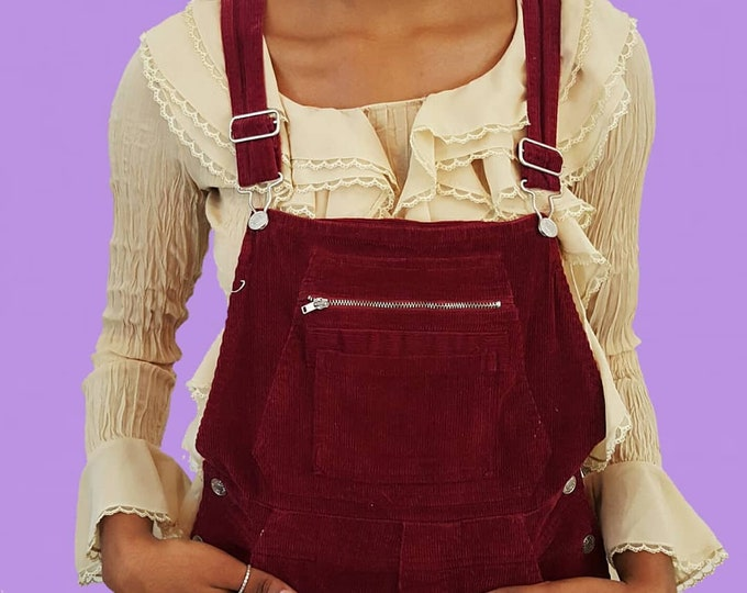 90s Tan Ruffle Shirt - Small Sheer Long Sleeve Collared Top - Vintage Womens Romantic Editorial Classic Puffy Shirt - Lacy Feminine Top