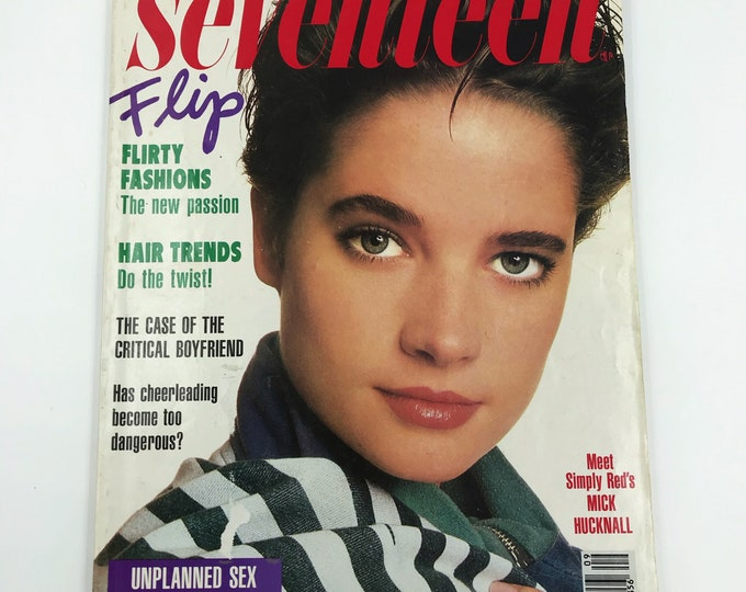 1987 Seventeen Magazine Vintage September Fall Issue - Eighties NY Fashion Mag Flirty Fashions Hair Trends SEX Horoscope - Seventeen FLIP