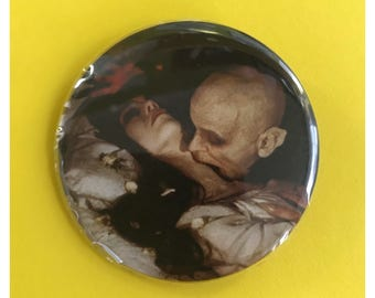 "2.25"" Dracula Pinback Button - Nosferatu Vampire Death Large Pinback Button Badge - Horror Film Button/Pin Goth Vampire Romantic Spooky"