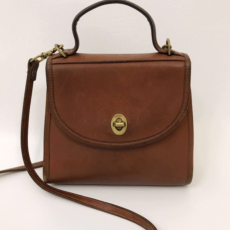 226bf9ea91e245 90's Vintage Coach Crossbody Purse - 80s Classic Designer Bag ...