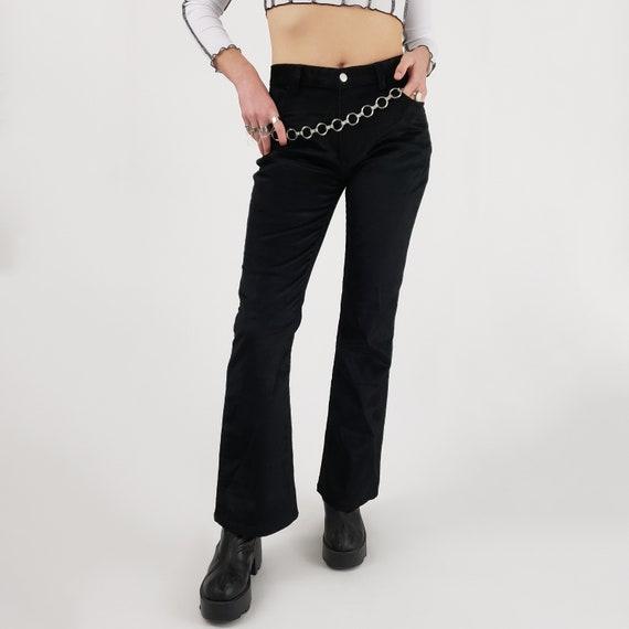 90s 2000s y2k Black Corduroy Pants - Medium Vintag