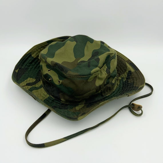 Camouflage Bucket Hat Cowboy Hat Green Brown Unise