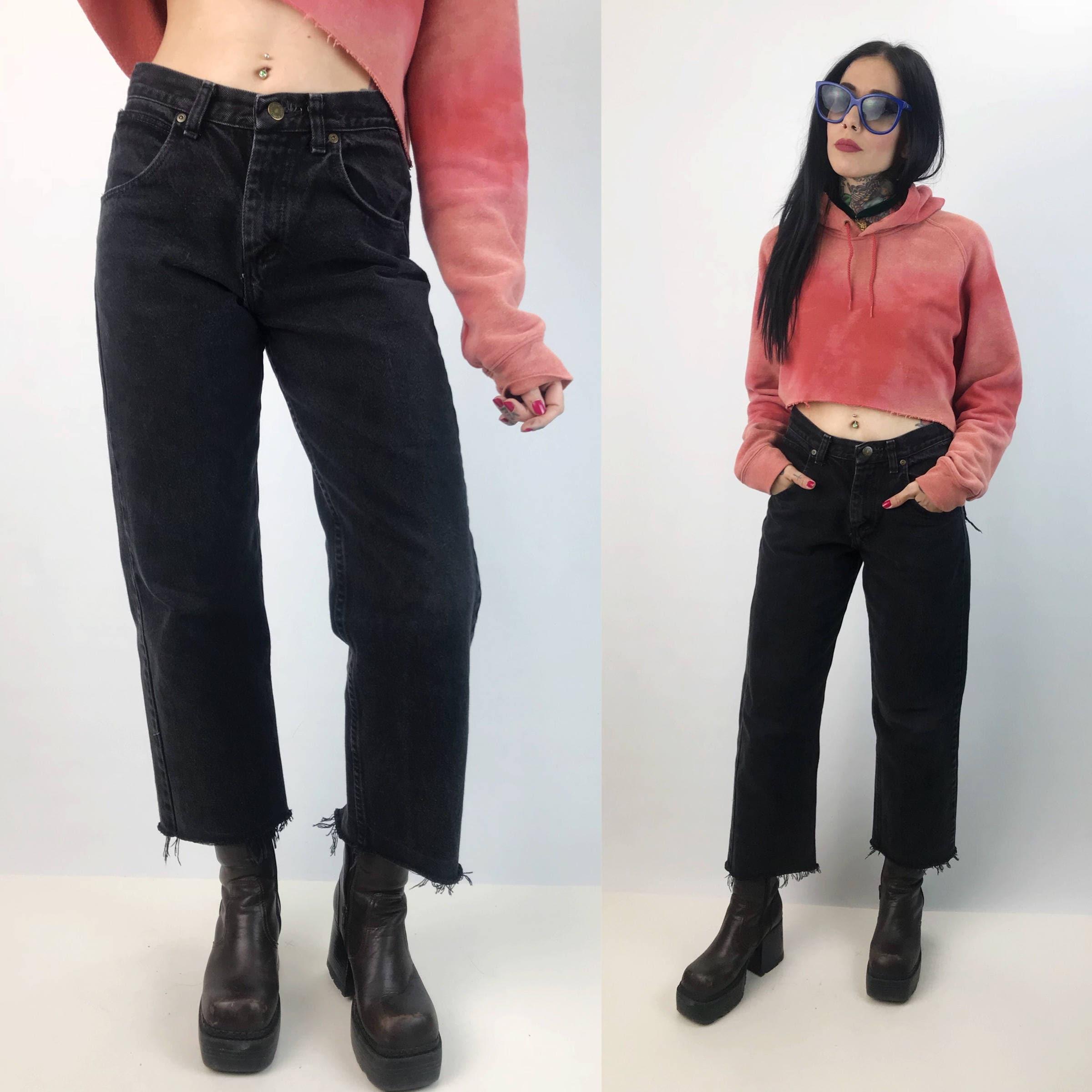 a8315c4d Wrangler Wide Leg Frayed Jeans Size 14 Boys / Women small 28