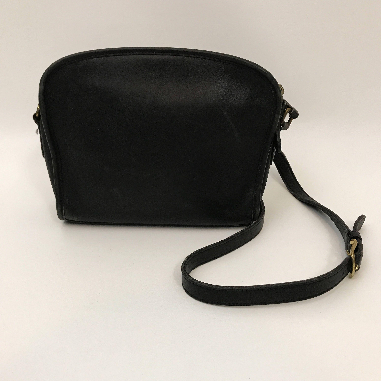 Vintage Coach Black Leather Satchel Cross Body Bag - 1990 s Vintage Long  Shoulder Strap Women s Purse - Classic Neutral Shoulder Bag. gallery photo  ... 7787442a78