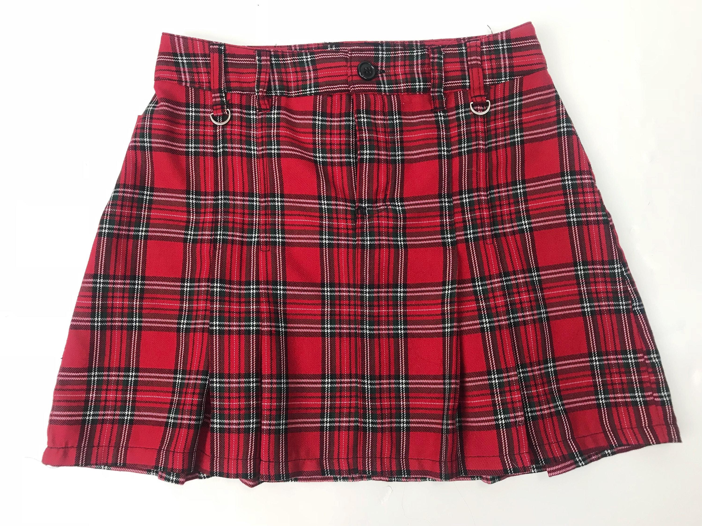 9d8a69daa8 Black And White Plaid Pleated Mini Skirt – DACC