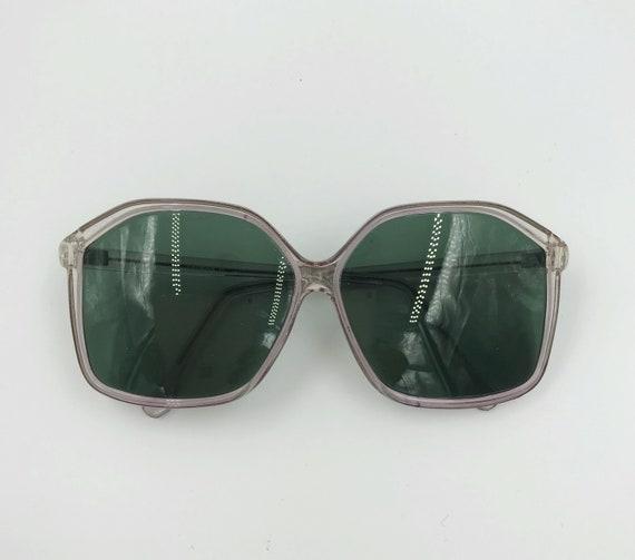 70's Oversized Retro Sunglasses - VTG Ladies Oversized Hexagon Frame Sunglasses Retro Pink Eyewear - Granny Shades Big Fashion Accessories