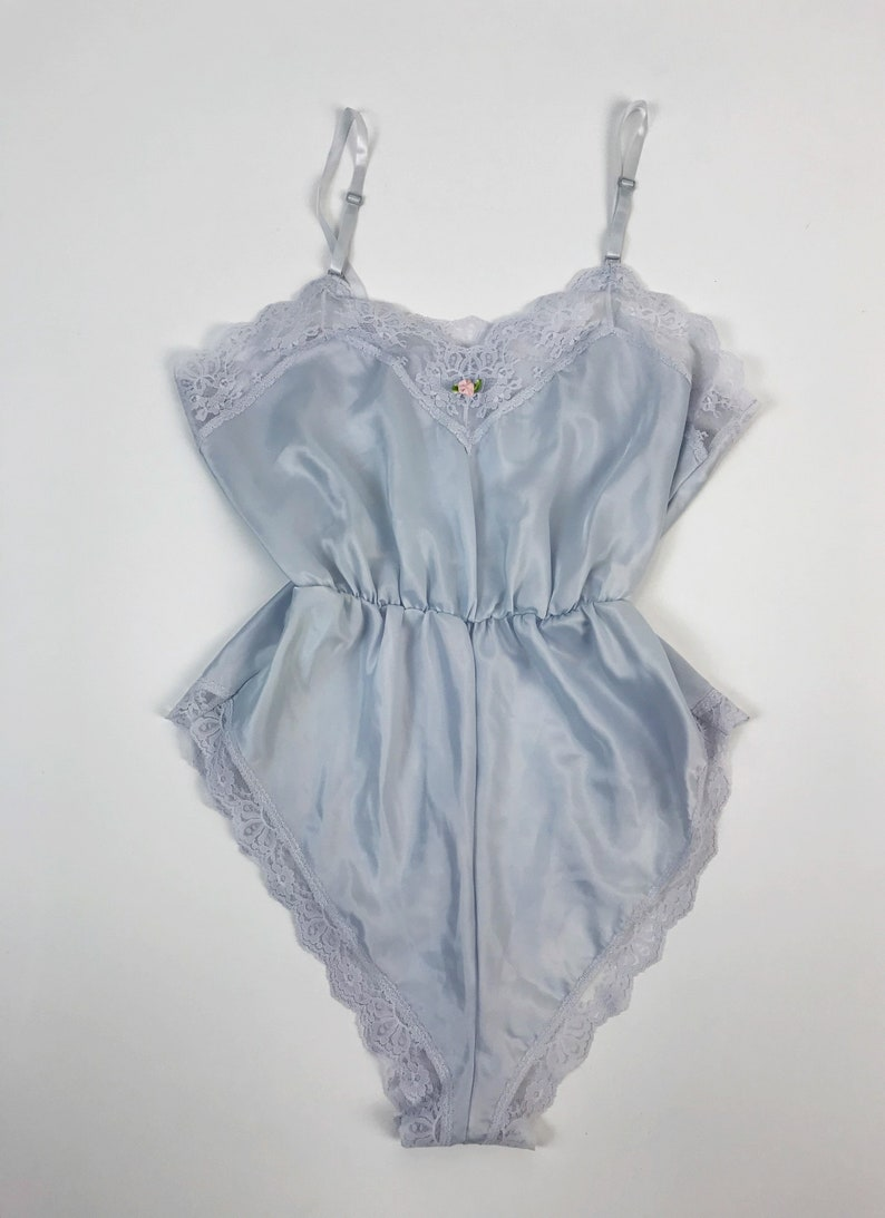29440b7adcc6 80 s One Piece Lace Lingerie Romper Sleepwear S M Pastel