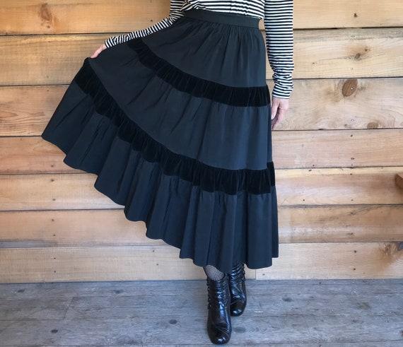 Taffeta skirt 50's eveningwear midi taffeta small