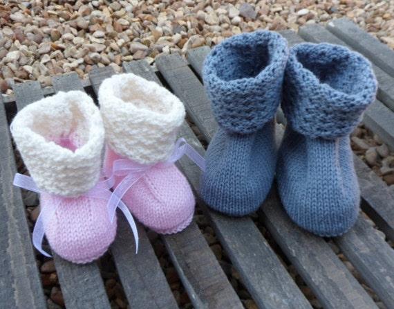 Knitting Pattern Babyoties Crib Shoes Machine Knitting Etsy