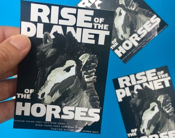RISE of the PLANET of the HORSES sticker
