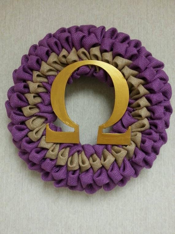 Omega Psi Phi Fraternity Wreath Etsy