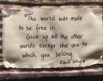 David Whyte Belonging Quote