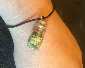Miniature Potion Bottle Charm Gilly Weed inspired